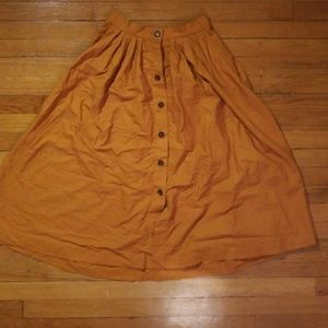 H&M Burnt Orange/Mustard Skirt
